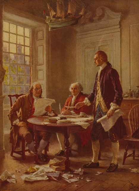 Writing the Declaration of Independence, 1776
