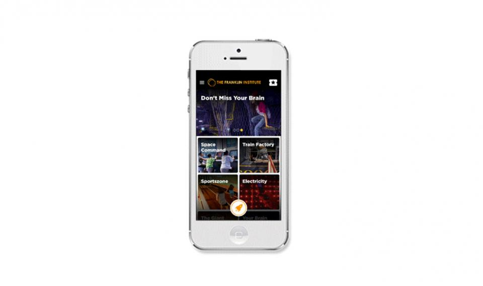 Screenshot of The Franklin Institute mobile app homepage on iPhone