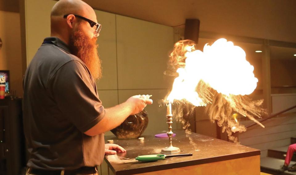 Our Science Educator Buddy Playing with Fire!
