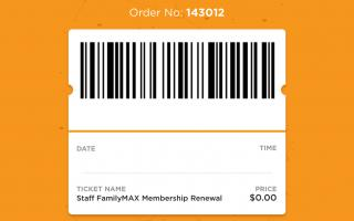 A digital ticket purchased from The Franklin Institute App!