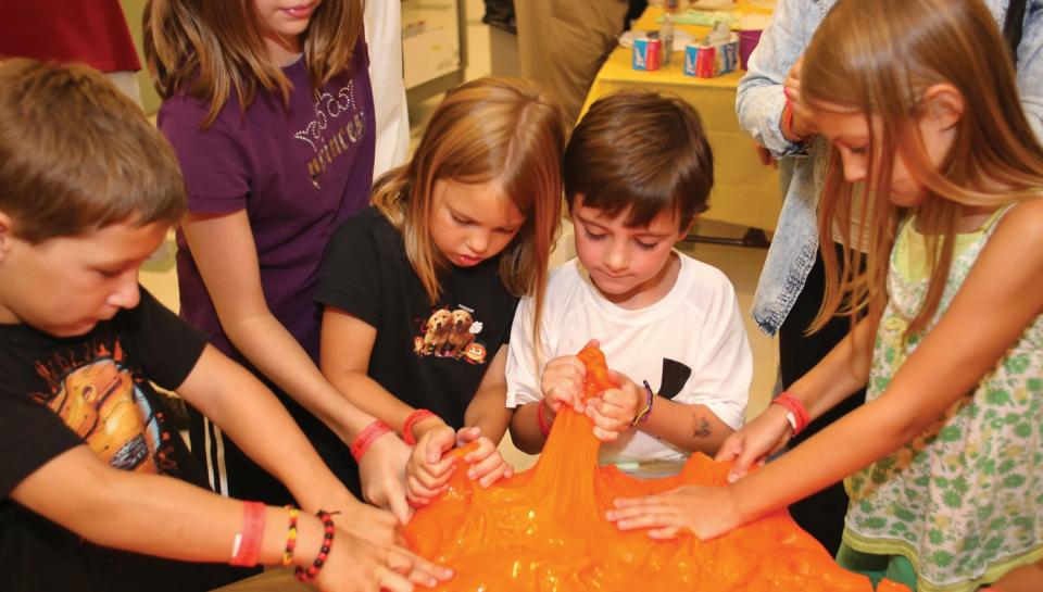 Workshops are a popular benefit of Franklin Institute memberships, especially when they involve exploring the science behind putty!