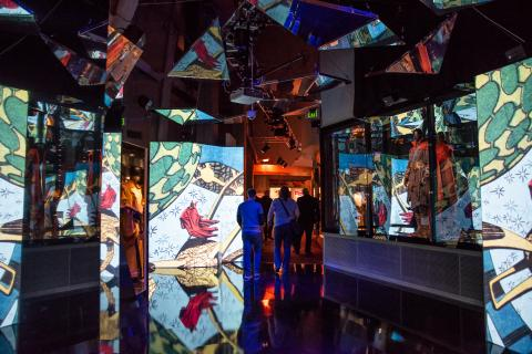 Photo of the Dr. Strange Mirror Room installed at the Museum of Pop Culture